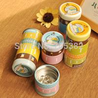 Cute cartoon series storage box,thumbtack+memo clip+rubber band set tin box,wholesale price(tt-745)