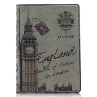 Luxury Cover case for APPLE iPad 5   case for British Wind Series  free shipping