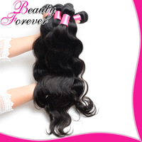 Beauty Forever Unprocessed Brazilian Virgin Hair Weaves 3PCS/Lot 6A Brazilian Body Wave Human Hair Extension Natural Black Hair