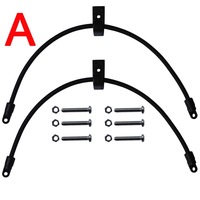 2 Pcs Kayak Bungee Paddle Holder Paddle Keepers Rod Holders Kit for Kayak & Canoe - Rigging Accessory
