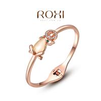 ROXI Brand 18k gold plated frog bracelet bangle fashion jewrlrys,Top High quality,factory price austrian crystal opal stone AN