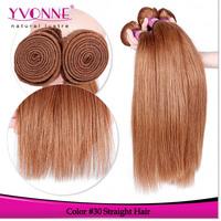 3Pcs/lot Grade 5A Peruvian Straight Hair Bundles,100% Natural Human Hair,Aliexpress YVONNE Hair Products,Color #30