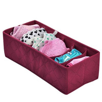 Eco-friendly Foldable Home Storage bamboo charcoal particles 6 lattice underwear socks Storage box