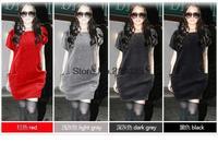 2014 New Year Shorts Women Knit Dreses Button Slim Hip Knitting Sweater Dress Winter