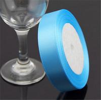 "Blue Grosgrain Ribbon Wedding Decoration Ribbons  0.6""(2cm) Width 25 yards(23-25 m) Length"