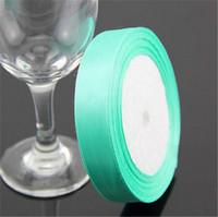 "Light Green Grosgrain Ribbon Wedding Decoration Ribbons  0.6""(2cm) Width 25 yards(23-25 m) Length"