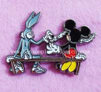 habbit badge, zinc alloy cut out pins,