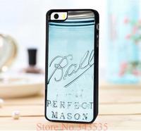10PCS New Vintage Ball Mason Jar perfect mason Design Print On  PU Leather Hard Black for iphone5 5s 5g 5th Case Cover