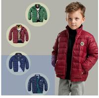 2014 new European style children's clothing fashion jacket collar down jacket boys down jacket
