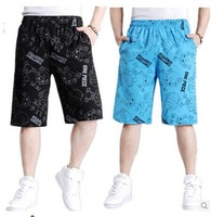 Male casual knee-length pants loose plus size fat capris plus size plus size beach pants DK004
