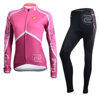 2014 CASTELLI women cycling clothing Cycling Jersey Long Sleeve winter thermal bike clothes bib pants S-4XL