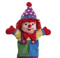 Child Favorite Cartoon Joker Plush Corduroy Hand Puppet Cotton Filled Baby Kids Educational Plush Toy Doll Gift WJ107