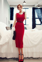 2014 New Summer & Autumn European and American style dress ladies dress Slim OL dress package hip bottoming dress On sale w002