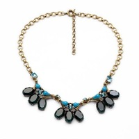 2014 Vintage Black Resin Choker Necklace Statement Collar Necklace Jewelry  Design Jewelry Min $20(can mix)