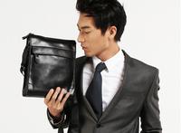 100% Genuine Leather  Men's Casual Vintage Briefcase Messenger Shoulder Bags Brown And Black Fashion Designer  High Quality