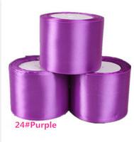 wholesale (75mm)  single face satin ribbon polyester ribbon 25 yard/roll