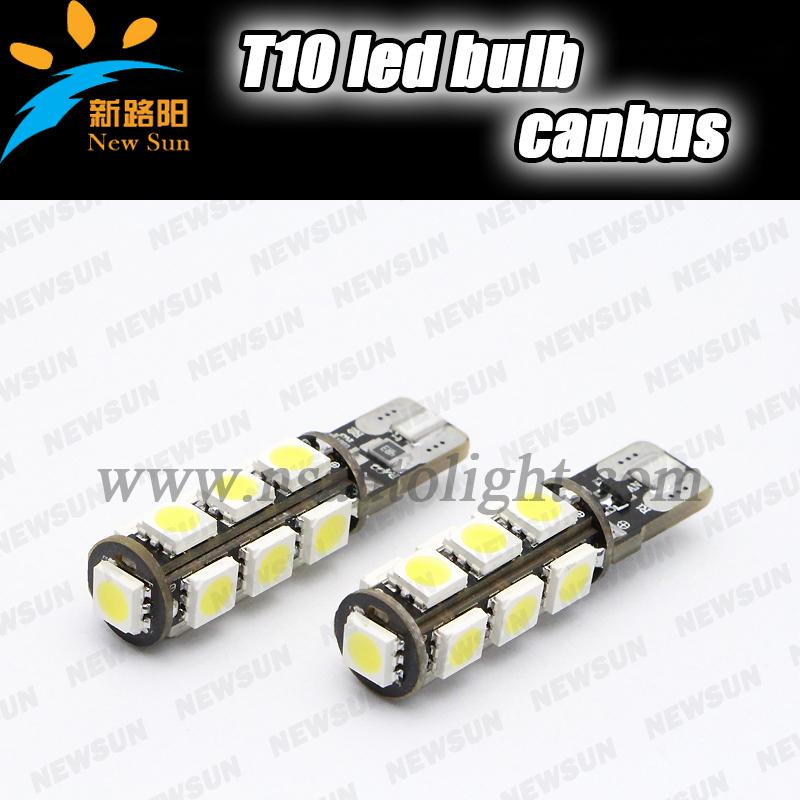 Лампа для чтения Newsun canbus t10 5050smd 13pcs t10 w5w t10 лампа t10 led frv x8