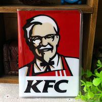 "2014 ""KFC ""logo passport holder Passport PVC jacket a short paragraph brand sets of documents - to travel abroad to study"