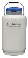 10 L Liquid Nitrogen Container Cryogenic LN2 Tank Dewar with Strap 80 mm Mouth