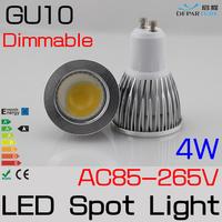 10PCS/LOT   Dimmable GU10 4W LED Spotlight  AC85-265V/110V/220V Levou lampada led spot  For home lighting FREESHIPPING