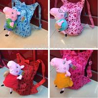 2014 New children school backpacks Cute cartoon school bags peppa pig girls boys cartoon bag mochila infantil free shipping