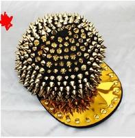 Punk hip-hop trend of Korean flat along the outdoor rivet hat baseball cap barbed nail tip cap