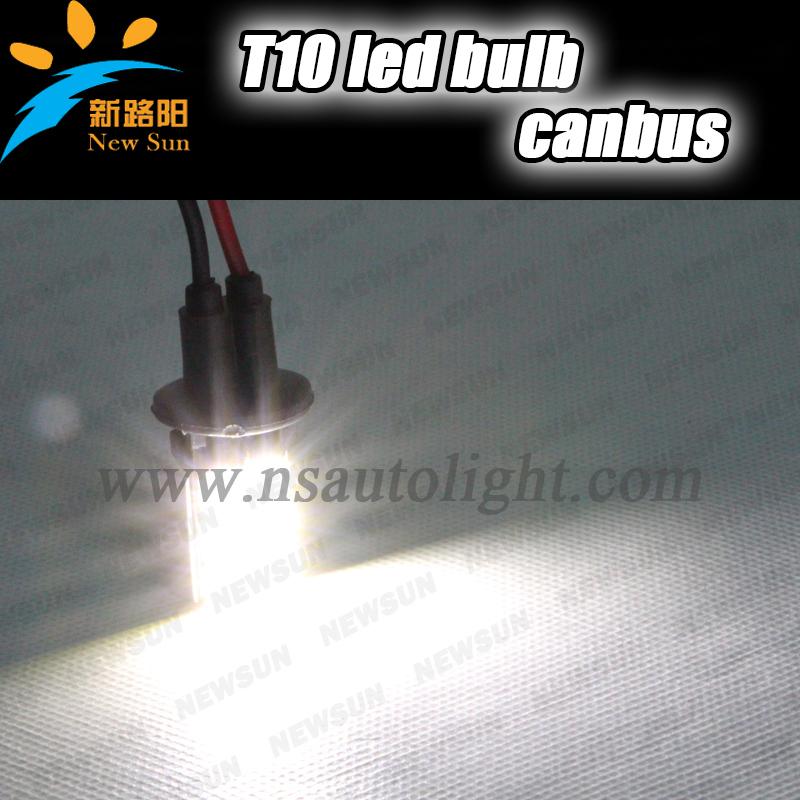 Лампа для чтения Newsun , T10 5050 6LED CANBUS T10 500pcs lot t10 w5w led canbus t10 6led 5050 smd turn wedge light t10 6smd led car side lamp bulb free shipping wholesale