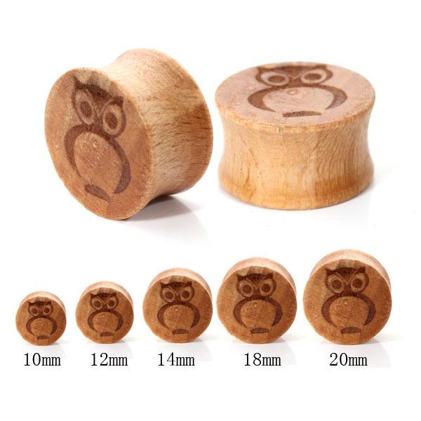 15 pcs/lot grosir penjualan panas busana owl kayu pola sangkutan ...