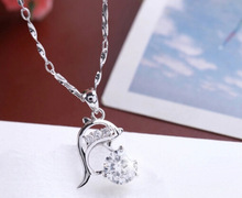 Propose marriage Dolphin pendant fashion silver Anniversary gift jewelry 29 19294 Free shipping