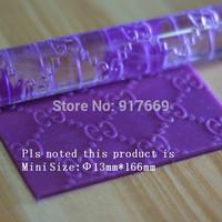 Acrylic Rolling Pin Fondant Cake Decorating Tools Mini Fondant Rolling Pins Cake Decoration Sugarcraft Embossing Cake Tools 468M