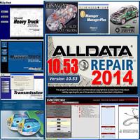 Big promotion 2014 alldata+mitchell + ESI+ ATSG+ ETKA 7.4+Transmission+vivid+ELSA 4.1+tecdoc+ med& heavy truck