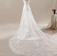 Custom size Mwemaid Wedding dress Appliques Bridal Gown White/Ivory  Free shipping