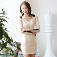 2014 Autumn In the fall of Autumn new Korean winter dress OL fashion dress slim free shipping