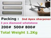 New arrive Ruixin 3nd Apex edge sharpener with diamond whetstone 150*20*5mm /5.9*0.78*0.2inch 200# 500# 800#  Ganzon stone