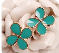 4pairs/lot All-match clover Earrings A1327