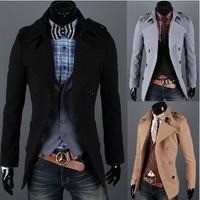 Men's clothing Qiu dong bi epaulettes Cloth coat dust coat