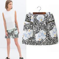 #YZX724 New 2014 Fashion Women Girls' Mini Short Skirts Lovely Denim Skirt Free Shipping