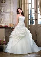Custom Size Wedding Dress New Free shipping white/ivory charming Taffeta Bridal Gowns Elegant wedding gown 6 8 10 12 14 16++