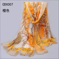 2014  chiffon silk scarf women's scarf beach 2014 spring and autumn scarf