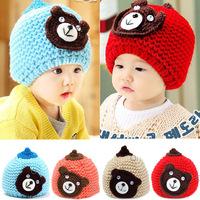 Free shipping 1 Piece Cute lovey handmade Baby Cap plus velvet Kid Beanies,Newborn Boy/girl Skullies, Children's Winter warm Hat