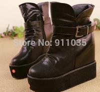 Free shipping/otsIncreased 2014 large base of sponge cake with cross strap wedges women's shoes