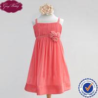 Goingwedding Spaghetti Straps A-line Pleated Chiffon Flower Girl Dress For Weddings HT021