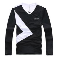 Hot Sale,2014 new style male cotton t-shirts man fashion hit color tees business mens sizeM-XL(LT0127)