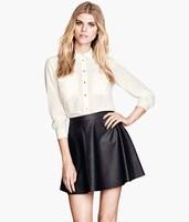 #YZX726 New 2014 Fashion Women Girls' Mini Short Skirts Lovely Denim Skirt Free Shipping