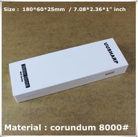 """Export Japanese whetstone M25  3 Micron Fine Polish 8000# corundum 7.08*2.36*1"""" inch water whetstone sharpener system"""