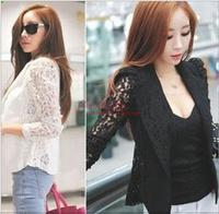 New 2014 blazer women spring Korean Slim gold buckle suit ladies autumn OL blaser outerwear female casual blazers S-XXL