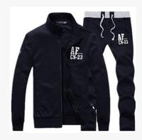 free shipping 2014 spring autumn new fashion men's leisure sports suit tracksuit coat sportswear jacket jogging sweatshirts sets