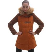 2013 women's plus size outerwear winter cotton-padded jacket medium-long wadded jacket female 13dm11
