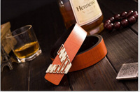 2014 Free shipping Fashion New cultivate morality men's belts nightclub leather cowhide V personality men's belt