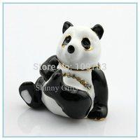 Enamel  panda shape handmade jewelry gift box fashion jewelry display box on sale jewelry box SCJ338-2